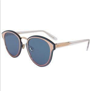 Dior Nightfall Sunglasses Rose Gold Frame Blue Len